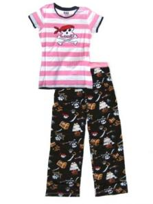 Lazy One Pink Pirates Pajamas for Women