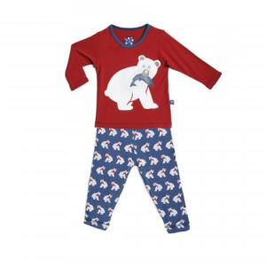 Kicky Pants Bamboo Twilight Bear L/S Pajama Set for Boys and Girls