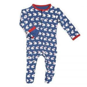Kicky Pants Bamboo Twilight Bear Footie Pajamas