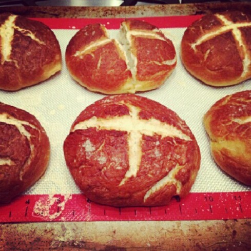 Tuesday Cook Off ~ Pretzel Bread