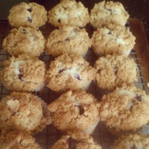 Tuesday Cook Off ~ The Best Blueberry Muffins