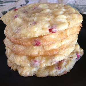 Tuesday Cook Off ~ White Chocolate Raspberry Cheesecake Cookies