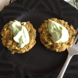 Tuesday Cook Off ~ Avocado Salmon Cakes