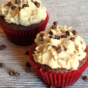 Tuesday Cook Off ~ Brownie Cupcakes with Cookie Dough Icing