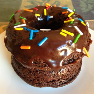 Tuesday Cook Off ~ Chocolate doughnut with chocolate glaze