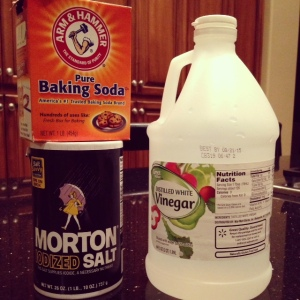 Ingredients for homemade drain solution