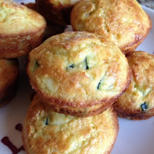 Tuesday Cook Off ~ Gluten Free Breakfast Muffin with Zucchini, Feta and Quinoa