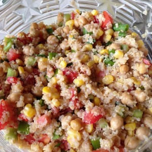 Tuesday Cook Off ~ Quinoa Vegetable Salad with Lemon -Basil Dressing
