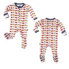 Kickee Pants Bamboo Boy Elephant Footie Pajamas