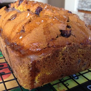 Tuesday Cook Off ~ Chocolate Chip Pumpkin Bread