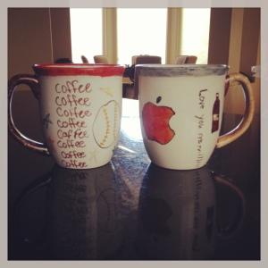 Sharpie mugs after baking