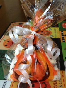 Candy Corn Cookie Bark Gift Idea