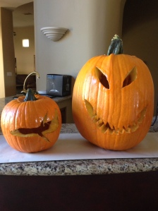 Our pumpkins a week after carving