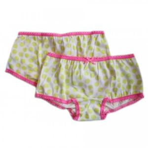 Claesen's Yellow Dots Girl Hipster Boxer 2 Pack