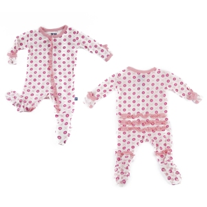 Kickee Pants Natural Jacks Ruffle Footie