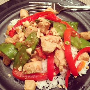 Tuesday Cook Off ~ Skinny Kung Pao Chicken