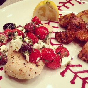 Tuesday Cook Off ~ Greek Salsa Chicken and Garlic and Herb Roasted Potatoes